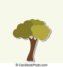 abstrakcyjny, drzewo, ikona