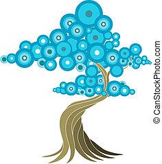 abstrakcyjny, drzewo, ilustracja