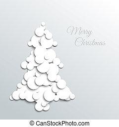 abstrakcyjny, drzewo, kartka na boże narodzenie