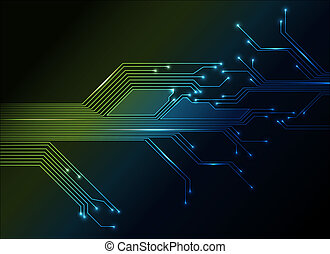 abstrakcyjny, elektronowe obchodzenie, tło