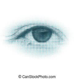 abstrakcyjny, eps, halftone, cyfrowy, 8, eye.