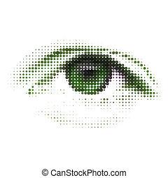 abstrakcyjny, eps, zielony, ludzki, cyfrowy, 8, eye.