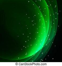 abstrakcyjny, falisty, zielone tło