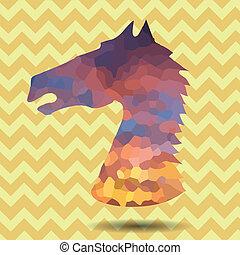 abstrakcyjny, głowa, koń