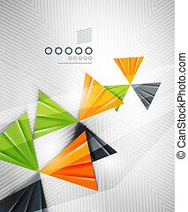abstrakcyjny, geometryczny, forma triangla, tło