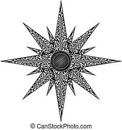 abstrakcyjny, gwiazda, ilustracja