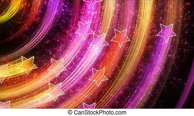 abstrakcyjny, gwiazdy, wstecz, loopable, dyskoteka