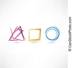 abstrakcyjny, handlowy, ikona