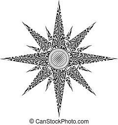 abstrakcyjny, ilustracja, gwiazda