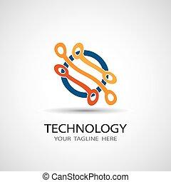 abstrakcyjny, ilustracja, wektor, objazd, ikona, deska, technologia