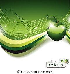 abstrakcyjny, jabłko, tło