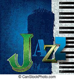 abstrakcyjny, jazz muzyka, tło