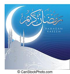 abstrakcyjny, kareem, ramadan, celebrowanie