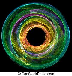 abstrakcyjny, koło, barwny