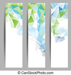 abstrakcyjny, komplet, chorągwie, triangle