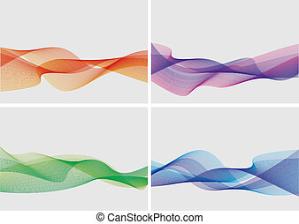 abstrakcyjny, komplet, tła, (vector)