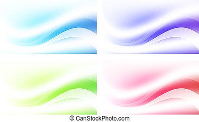 abstrakcyjny, komplet, tło, wielobarwny