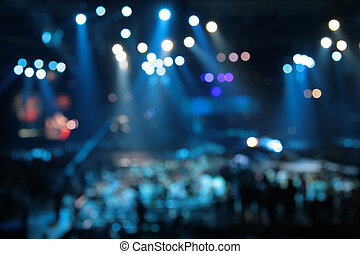 abstrakcyjny, koncert, strumienice, defocused