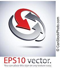 abstrakcyjny, logo., handlowy, 3d