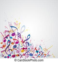 abstrakcyjny, muzyka, tło