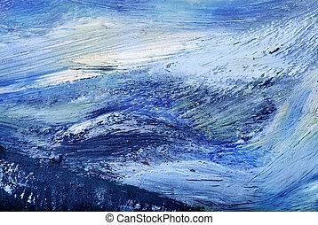 abstrakcyjny, naftowe malarstwo