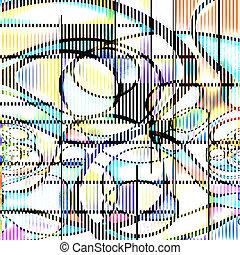 abstrakcyjny, nowoczesna sztuka
