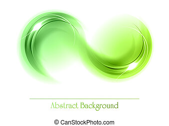 abstrakcyjny, obiekty, zielony