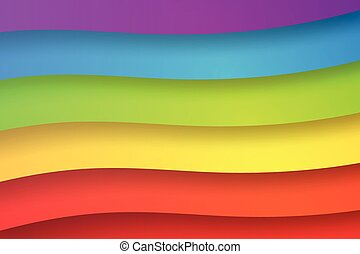 abstrakcyjny, papier, tęcza, sztuka, ilustracja, barwny, tło, wektor, formułować