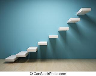 abstrakcyjny, schodek