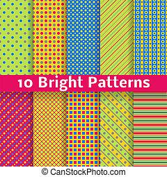 abstrakcyjny, seamless, wzory, jasny, wektor, (tiling)., geometryczny
