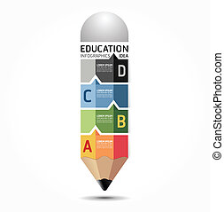 abstrakcyjny, szablon, liczbowany, używany, kwestia, infographics, projektować, /, wektor, website, cutout, ołówek, chorągwie, infographic, poziomy, graficzny, minimalny, styl, czuć się, układ, albo, może