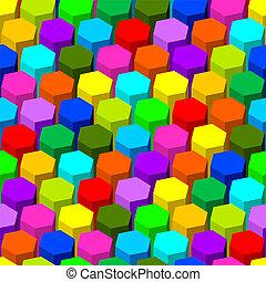 abstrakcyjny, sześciokąt, pattern., seamless
