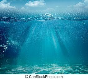 abstrakcyjny, tła, ocean, projektować, morze, twój