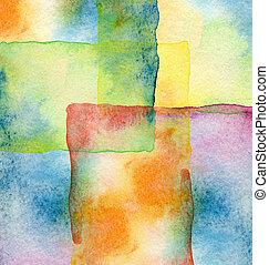abstrakcyjny, tło, akwarela, barwiony