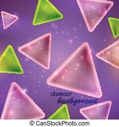 abstrakcyjny, tło, modeluje, błyszczący, trójkąt