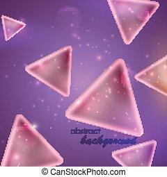 abstrakcyjny, tło, modeluje, purpurowy, trójkąt
