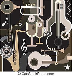 abstrakcyjny, tło, -, muzyka, wektor