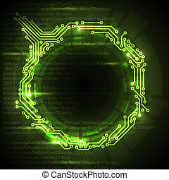 abstrakcyjny, tło, wektor, zielony, techniczny