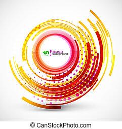 abstrakcyjny, technologia, koło, tło