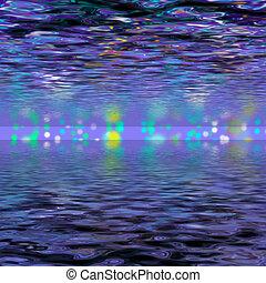 abstrakcyjny, waves., fale