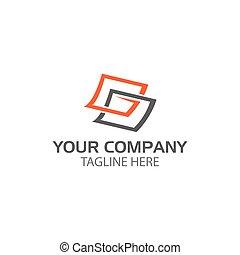 abstrakcyjny, wektor, logo., prostokątny