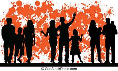 abstrakcyjny, wektor, rodzina