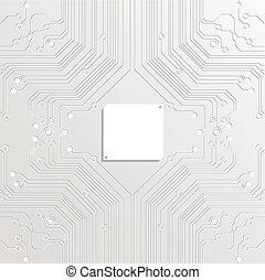 abstrakcyjny, wektor, technologia, białe tło
