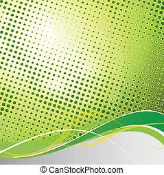 abstrakcyjny, wektor, zielone tło