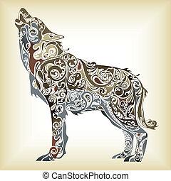 abstrakcyjny, wilk