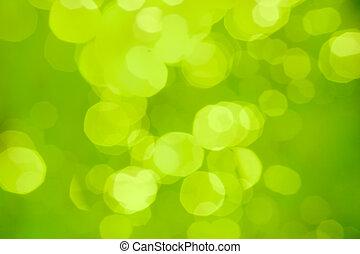 abstrakcyjny, zamazany, bokeh, zielone tło, albo