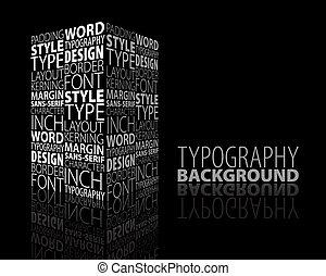 abstrakcyjny zamiar, typografia, tło