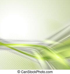 abstrakcyjny, zielone tło, machać