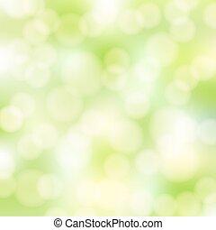 abstrakcyjny, zielony, bokeh, tło