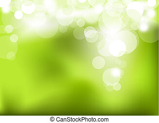 abstrakcyjny, zielony, jarzący się, tło
